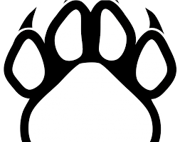 Panther Paw Embroidery Design Black Panther Red Outline Logo Logodix