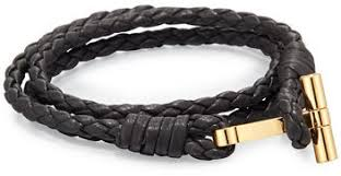tom ford watches jewellery for men shopstyle tom ford men s leather braided wrap t bracelet