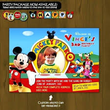 Make Your Own Mickey Mouse Invitations Create Your Own Mickey Mouse Invitations Birthday Invitation