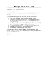 email cover letter example template email cover letter example
