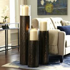 tall floor standing candle holders image antique and