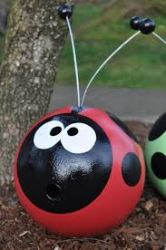 Bowling Ball Decorations Delectable Recycled Bowling Ball Cute For Garden Ornaments The Wind Will Not