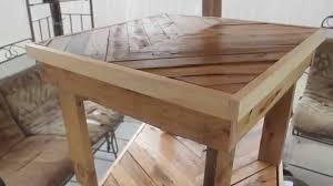 Coffee Tables Out Of Pallets Beautiful Tables Made From Free Pallets Youtube
