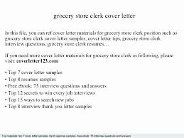 Grocery Clerk Resume Skills Amazing Grocery Clerk Resume Grocery