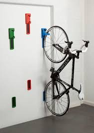 bike storage idea hang from the ceiling