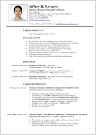 Interior Design Resumes Perfect Interior Design Resume Samples 24 Resume Sample Ideas 7