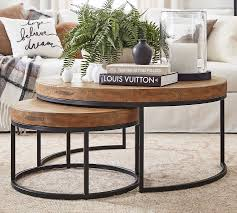 Urbana sofa table by hammary at suburban furniture. Malcolm Round Nesting Coffee Tables Pottery Barn