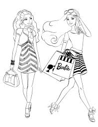 Small Picture Coloring Pages Of Barbie And Her Friends Coloring Pages
