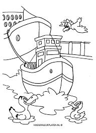 Kleurplaat Sleepboot Tugboat Haven Vervoer