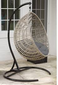 outdoor hanging ball chair with stand