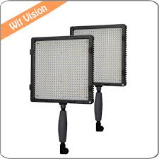 2pcs cn 576 plastic portable led light studio lighting kit with stand and carrying bag for wedding macro in photographic lighting from consumer