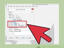 Business Card Size In Pixels How To Make Business Cards With Gimp With Pictures Wikihow