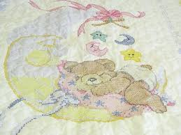 Cross Stitch Baby Quilts Owls Stamped Cross Stitch Baby Quilt Tops ... & Stamped Cross Stitch Baby Quilts Owls Stamped Cross Stitch Baby Quilt Tops  Bucilla Stamped Lap Quilt Baby ... Adamdwight.com