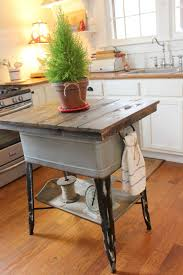 rustic kitchen island table. Before: Vintage-Style Washtub After: Rustic Kitchen Island Table