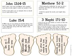 life s journey to perfection sharing time outline 2014 week 3 follow jesus christ s example foot prints and scriptures