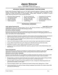 Chief Mechanical Engineer Sample Resume Plus Radio Info