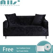 2 seater sofa cover soild color emboss sofa cover elastic ant slip sofa