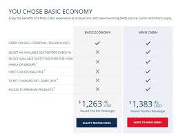 Delta Fare Chart Delta To Charge 60 To Check A Bag To Europe In 2018