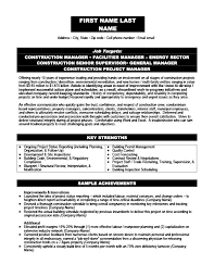Construction Resume Templates, Samples & Examples | Resume Templates 101