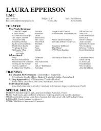 Acting Resume Example Examples Special Skills For Acting Resume
