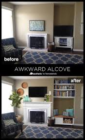 Living Room Alcove Remodelaholic Real Life Rooms An Awkward Alcove Becomes A