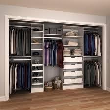 great modifi 84 in h x 90 in to 180 in w x 15 in d white melamine modular closet systems home depot