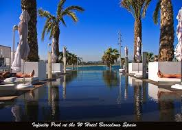 Infinity Pool At The W Hotel Barcelona Spain by Ted Wojas Digital