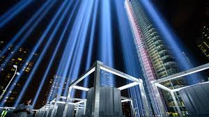 Relatives of those who died with the virus laid white roses on a black pedestal surrounding a bowl of burning coals outside the royal palace in madrid. Photos Up Close Look At The World Trade Center S 9 11 Tribute In Light Abc7 New York