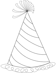 Happy Birthday Party Hat Coloring Page Free Printable Coloring Pages