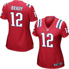 New 12 Alternate8160222 Football Red England Jersey Tom Brady Women's Patriots Game