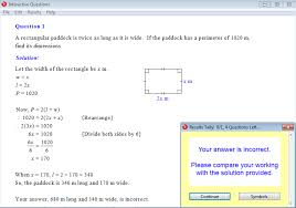 solution for a question from year 9 interactive maths chapter 2 linear equations and