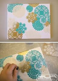 DIY Doily Canvas Art. | Cute Quote