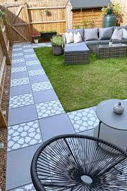 garden slabs concrete patio makeover