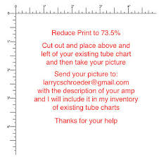 Reproduction Fender Amplifier Tube Charts 29 95 Picclick