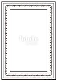 Image Picture Frame Frame Border Design Template Black And White Decorative Vector Border On White Blank Background For Fotoliacom Frame Border Design Template Black And White Decorative Vector