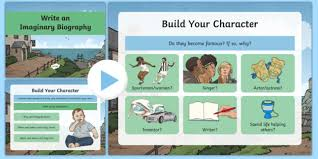powerpoint biography imaginary biography writing and character building powerpoint