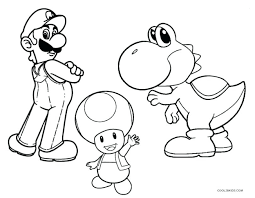 Coloring Pages Super Mario Super Bros Coloring Pages Free Printable