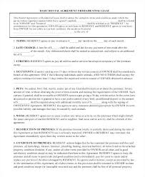 Apartment Rental Agreement Sample Apartment Lease Agreement ...