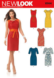 New Look 6144 Size A 8 10 12 14 16 18 Misses Dresses Sewing