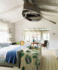 who could thought that an old wooden boat could become a part of a bedroom ceiling