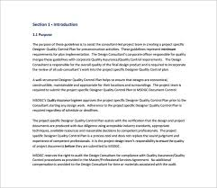 Quality Assurance Plan Example 10 Quality Control Plan Templates Free Sample Example Format