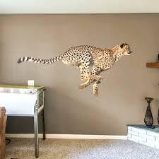cheetah wall decal cheetah fathead cheetah print heart wall decals