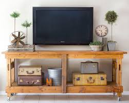 Cool Tv Stand Ideas Cool Homemade Industrial Tv Stands With Vintage Suitcase Storage 5480 by uwakikaiketsu.us
