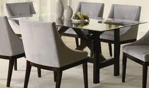 rectangular glass dining room table