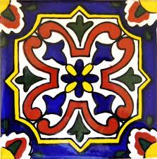 6X6 Decorative Ceramic Tile Mexican Tile Lomeli Merida Ceramic Mexican Tile Ceramic Deco 88