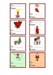 Christmas Cards For Gift To From 2 3 Esl Worksheet By