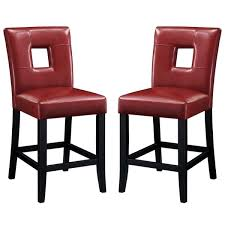 red counter height stools.  Counter Epcot Open Back Red Upholstered Counter Height Stools Set Of 2 In Overstockcom
