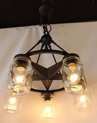 Texas Star Pendant Light Details About Mjl 5 Light Clear Mason Jar Lighting Glass