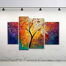 handpainted oil painting for living room wall palette knife art large canvas art multi panel 4 pieces abstract pictures in painting calligraphy from
