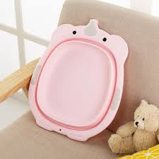 singapore bzy collapsible bathtub washbasin folding toddler small bath towel baby bathtub care plastic bathtub